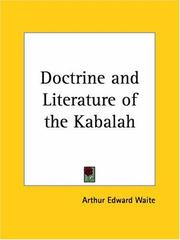 Cover of: The Doctrine and Literature of the Kabalah