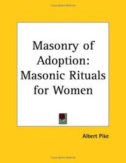 Cover of: Masonry of Adoption