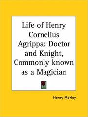 Cover of: Life of Henry Cornelius Agrippa