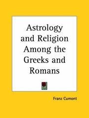 Cover of: Astrology and Religion Among the Greeks and Romans
