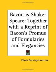 Bacon is Shake-Speare by Edwin Durning-Lawrence