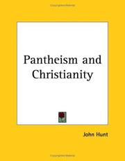 Cover of: Pantheism and Christianity