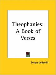 Cover of: Theophanies: a book of verses