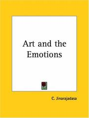 Cover of: Art and the Emotions | C. Jinarajadasa