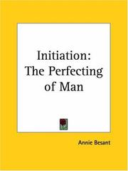 Cover of: Initiation: the perfecting of man