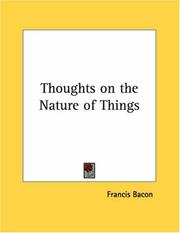 Cover of: Thoughts on the Nature of Things