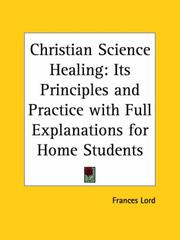 Cover of: Christian Science Healing | Frances Lord