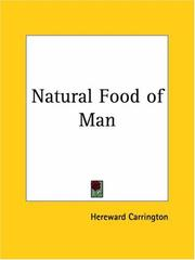 Cover of: Natural Food of Man