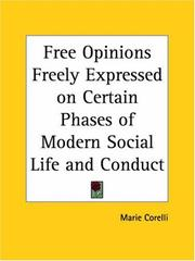 Cover of: Free opinions freely expressed on certain phases of modern social life and conduct