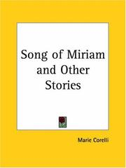 Cover of: Song of Miriam and Other Stories