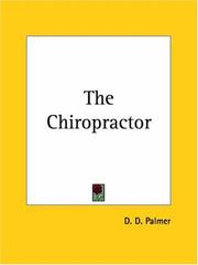 Cover of: The Chiropractor