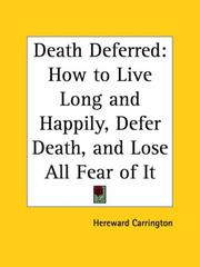 Cover of: Death deferred