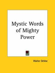 Cover of: Mystic Words of Mighty Power