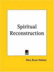 Cover of: Spiritual Reconstruction | Mary Bruce Wallace
