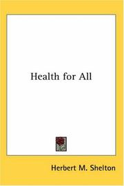 Cover of: Health for All | Herbert M. Shelton