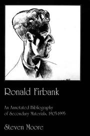 Cover of: Ronald Firbank