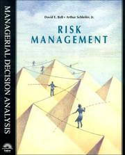 Risk Management (Managerial Decision Analysis Series) by David E. Bell, Jr, Arthur Schleifer