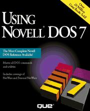 Cover of: g Novell DOS 7 | Robert P. King