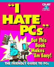 Cover of: I hate PCs