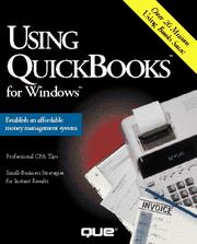 Cover of: Using Quickbooks for Windows