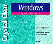 Cover of: Crystal clear Windows, covers version 3.1 | Jan Weingarten