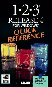 Cover of: 1-2-3 release 4 for Windows quick reference