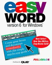 Cover of: Easy Word, version 6 for Windows