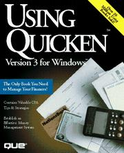 Cover of: Using Quicken 3 for Windows