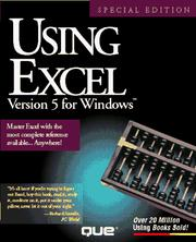 Cover of: Using Excel Version 5 for Windows (Using ... (Que)) | Ron Person