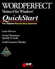 Cover of: WordPerfect 6 forWindows QuickStart