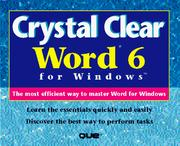 Cover of: Crystal clear Word