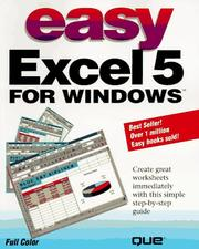 Cover of: Easy Excel 5 for Windows