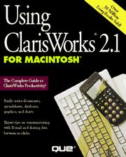 Cover of: Using ClarisWorks 2.1 for Macintosh