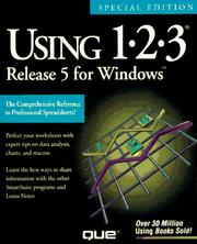 Cover of: Using 1-2-3 Release 5 for Windows (Using ... (Que)) | Que Corporation