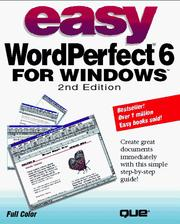 Cover of: Easy WordPerfect 6 for Windows