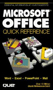 Cover of: Microsoft Office quick reference