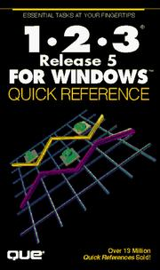 Cover of: 1-2-3 release 5 for Windows quick reference