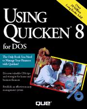 Cover of: Using Quicken 8 for DOS