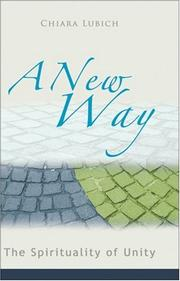 Cover of: A new way | Chiara Lubich