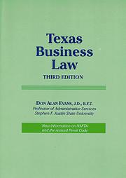 Cover of: Texas business law