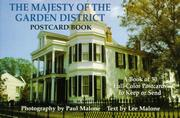 Cover of: The Majesty of the Garden District (New Orleans, LA) Postcard Book (Majesty Architecture) | Lee Malone