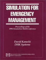 Cover of: Simulation for Emergency Management | David Kanecki