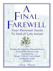 Cover of: A Final Farewell | Nancy Lawson