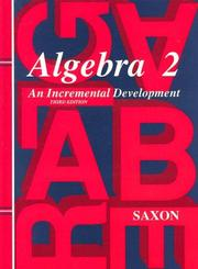 Cover of: Algebra 2 (Saxon Algebra)