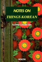 Cover of: Notes on things Korean