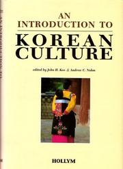 Cover of: An Introduction to Korean Culture |