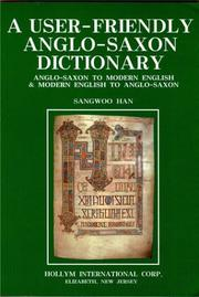 Cover of: A user-friendly Anglo-Saxon dictionary