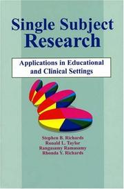 Cover of: Single subject research