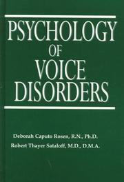 Cover of: Psychology of voice disorders