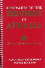 Cover of: Approaches to the treatment of aphasia